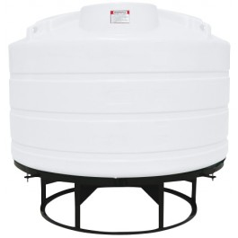 1350 Gallon White Cone Bottom Tank with Stand