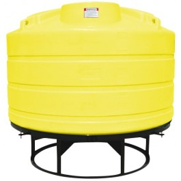 1350 Gallon Yellow Cone Bottom Tank with Stand