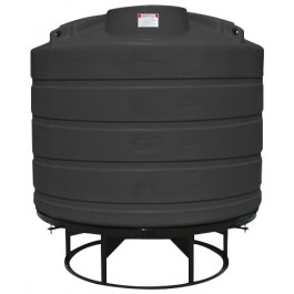 1550 Gallon Black Cone Bottom Tank with Stand