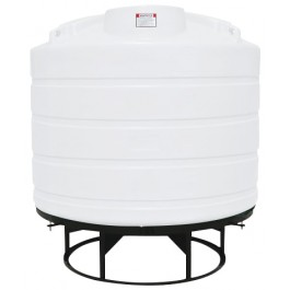 1550 Gallon White Cone Bottom Tank with Stand