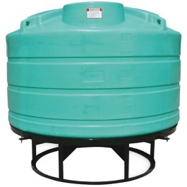 1600 Gallon Green Cone Bottom Tank with Stand
