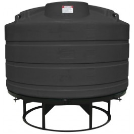 1600 Gallon Black Cone Bottom Tank with Stand