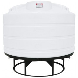 1600 Gallon White Cone Bottom Tank with Stand