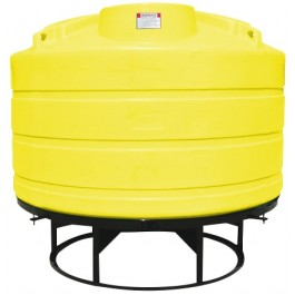 1600 Gallon Yellow Cone Bottom Tank with Stand