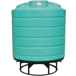 2000 Gallon Green Cone Bottom Tank with Stand