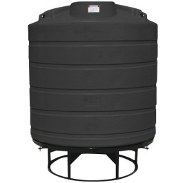 2000 Gallon Black Cone Bottom Tank with Stand