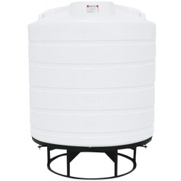 2000 Gallon White Cone Bottom Tank with Stand