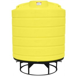 2000 Gallon Yellow Cone Bottom Tank with Stand