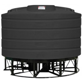 2020 Gallon Black Cone Bottom Tank with Stand
