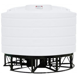 2020 Gallon White Cone Bottom Tank with Stand