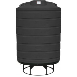 2500 Gallon Black Cone Bottom Tank with Stand