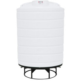 2500 Gallon White Cone Bottom Tank with Stand