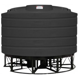 2520 Gallon Black Cone Bottom Tank with Stand