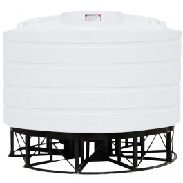 2520 Gallon White Cone Bottom Tank with Stand
