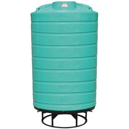 3000 Gallon Green Cone Bottom Tank with Stand