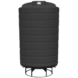 3000 Gallon Black Cone Bottom Tank with Stand