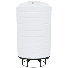 3000 Gallon White Cone Bottom Tank with Stand