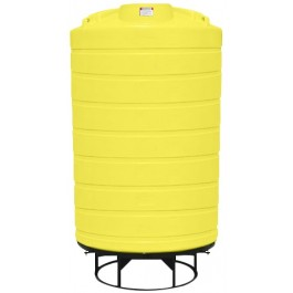 3000 Gallon Yellow Cone Bottom Tank with Stand
