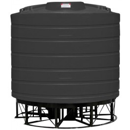 3200 Gallon Black Cone Bottom Tank