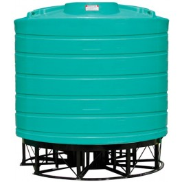 3200 Gallon Green Cone Bottom Tank with Stand
