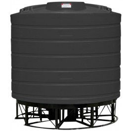 3200 Gallon Black Cone Bottom Tank with Stand