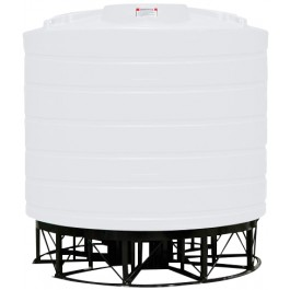 3200 Gallon White Cone Bottom Tank with Stand