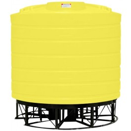 3200 Gallon Yellow Cone Bottom Tank with Stand