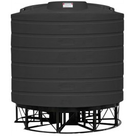 4000 Gallon Black Cone Bottom Tank with Stand