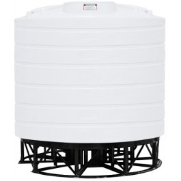 4000 Gallon White Cone Bottom Tank with Stand