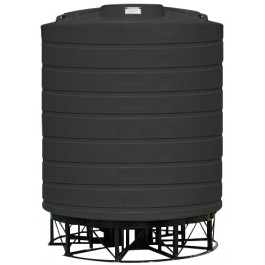 5000 Gallon Black Cone Bottom Tank with Stand