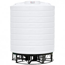 5000 Gallon White Cone Bottom Tank with Stand