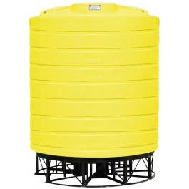 5000 Gallon Yellow Cone Bottom Tank with Stand