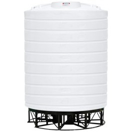 6000 Gallon White Cone Bottom Tank with Stand