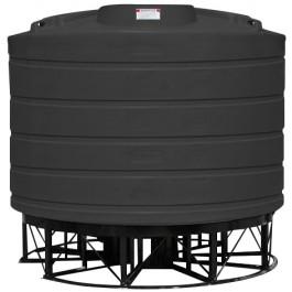 6011 Gallon Black Cone Bottom Tank