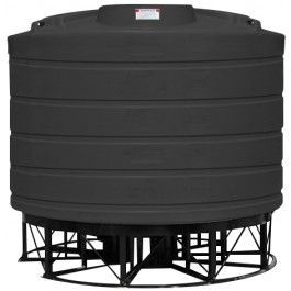 6011 Gallon Black Cone Bottom Tank with Stand