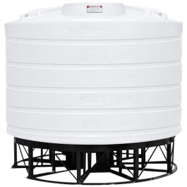6011 Gallon White Cone Bottom Tank with Stand