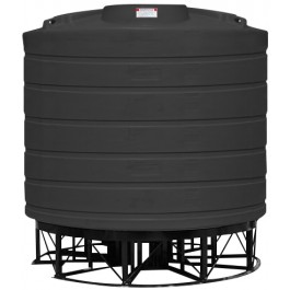 7011 Gallon Black Cone Bottom Tank with Stand