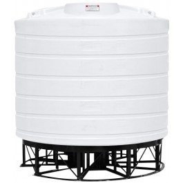 7011 Gallon White Cone Bottom Tank with Stand