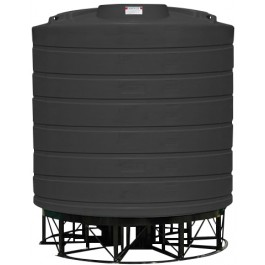 8000 Gallon Black Cone Bottom Tank with Stand