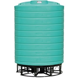 10000 Gallon Green Cone Bottom Tank with Stand
