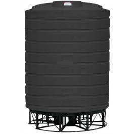 10000 Gallon Black Cone Bottom Tank with Stand