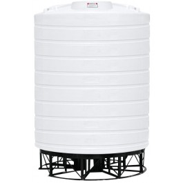 10000 Gallon White Cone Bottom Tank with Stand