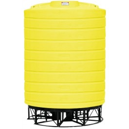 10000 Gallon Yellow Cone Bottom Tank with Stand