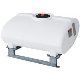 100 Gallon White Horizontal Sump Bottom Leg Tank w/ Frame
