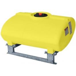 100 Gallon Yellow Horizontal Sump Bottom Leg Tank w/ Frame