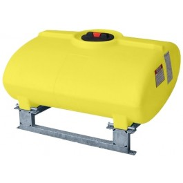 150 Gallon Yellow Horizontal Sump Bottom Leg Tank w/ Frame