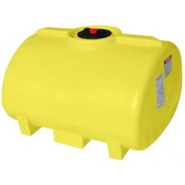 150 Gallon Yellow Horizontal Sump Bottom Leg Tank