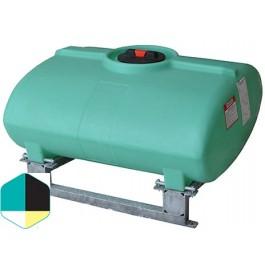200 Gallon Yellow Horizontal Sump Bottom Leg Tank w/ Frame
