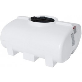 200 Gallon White Horizontal Sump Bottom Leg Tank