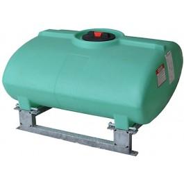 250 Gallon Green Horizontal Sump Bottom Leg Tank w/ Frame